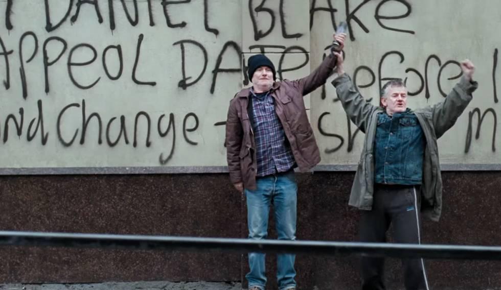 "Fotograma de ""Yo Daniel Blake"" que le valió la Palma de Oro a Ken Loach."
