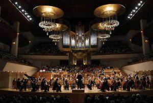 La Orquesta Nacional de España (ONE), durante una actuación en el Auditorio Nacional.