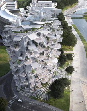 Proyecto de torre arbórea en Montpellier del arquitecto japonés Sou Fujimoto.