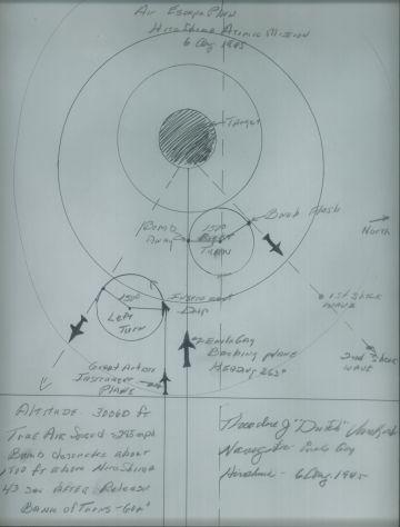 Plan para el bombardeo atómico de Hiroshima.