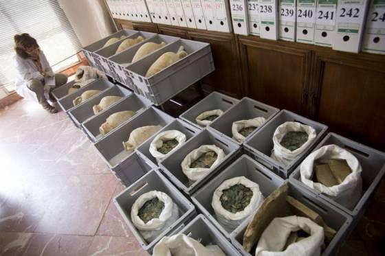 FOTOGALERÍA: El tesoro de monedas romanas de Tomares