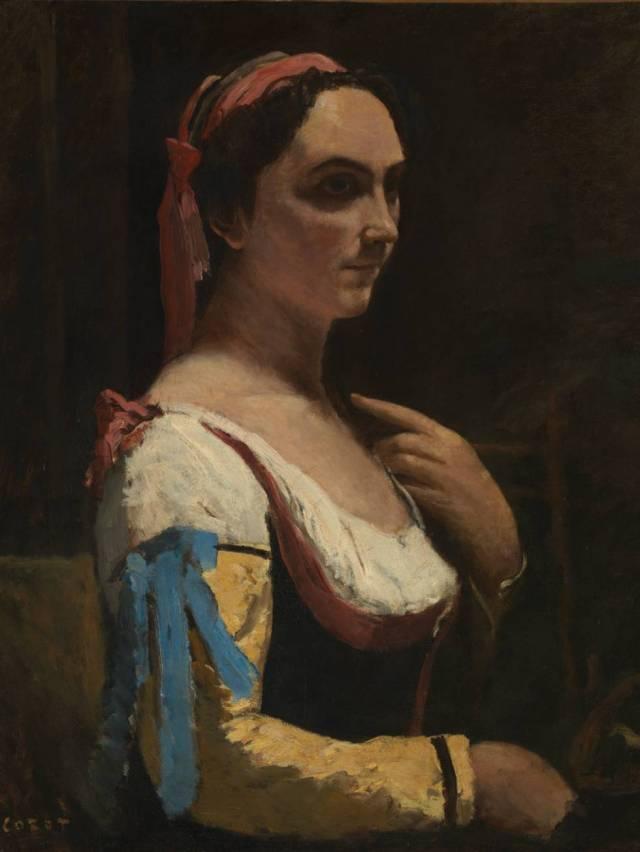 'La italiana. La mujer con la manga amarilla', de Corot.