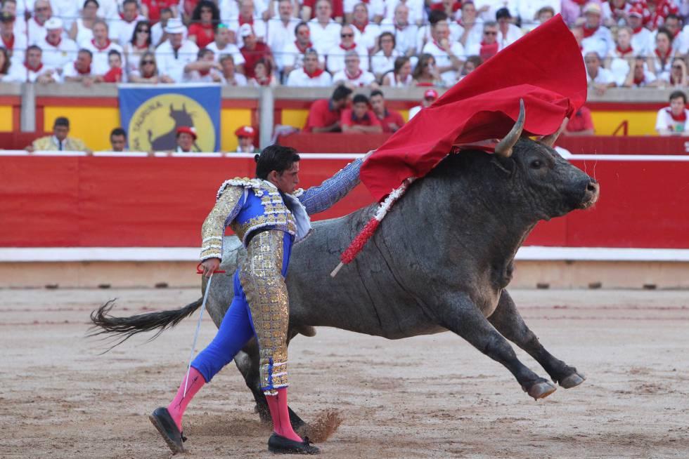 Alberto Aguilar, ayer en la Feria de San Fermín.