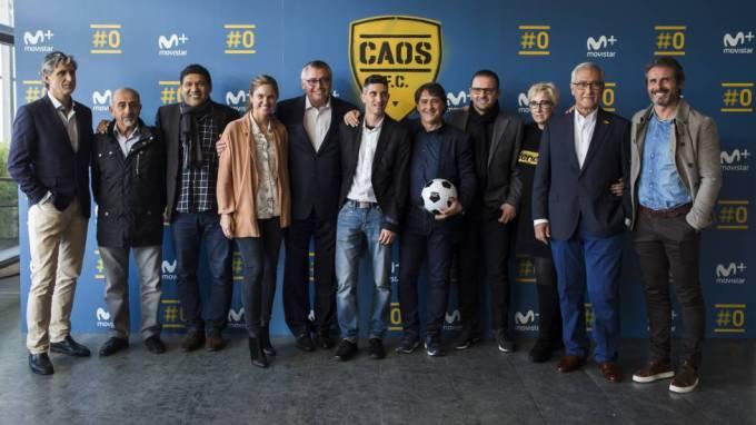 El equipo de 'Caos FC'.