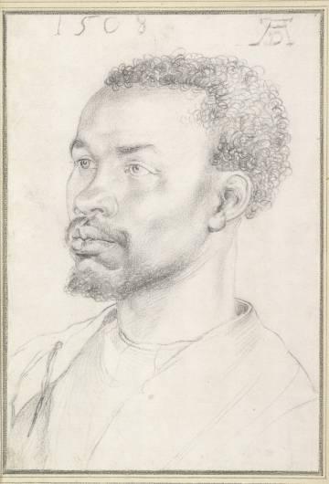 Retrato de un negro anónimo de Durero, (1508).
