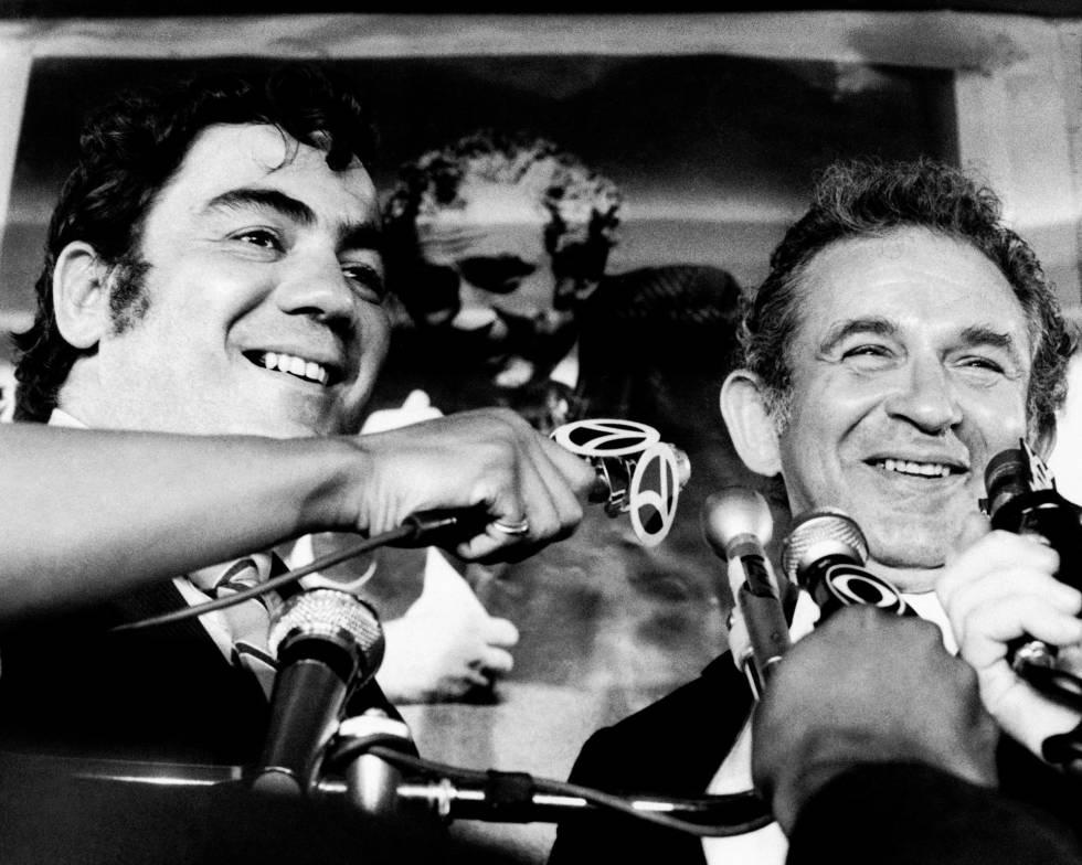 Jimmy Breslin (izquierda) con Norman Mailer en 1969.