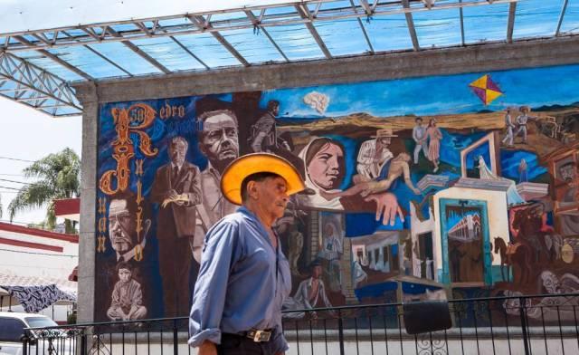 Mural de Juan Rulfo en San Gabriel