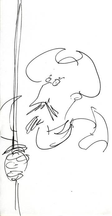 Dibujo para EL PAÍS de Terry Gilliam con su Quijote ideal.