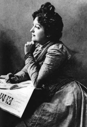 Carmen de Burgos 'Colombine', hacia 1901.