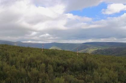 Zona boscosa bajo la que se oculta el campamento legionario de Serra de Casiña.