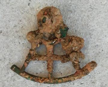 Sextante encontrado por Tono García del 'SS Solway',