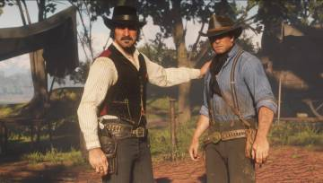 Dutch and Arthur, in an instant of the game.