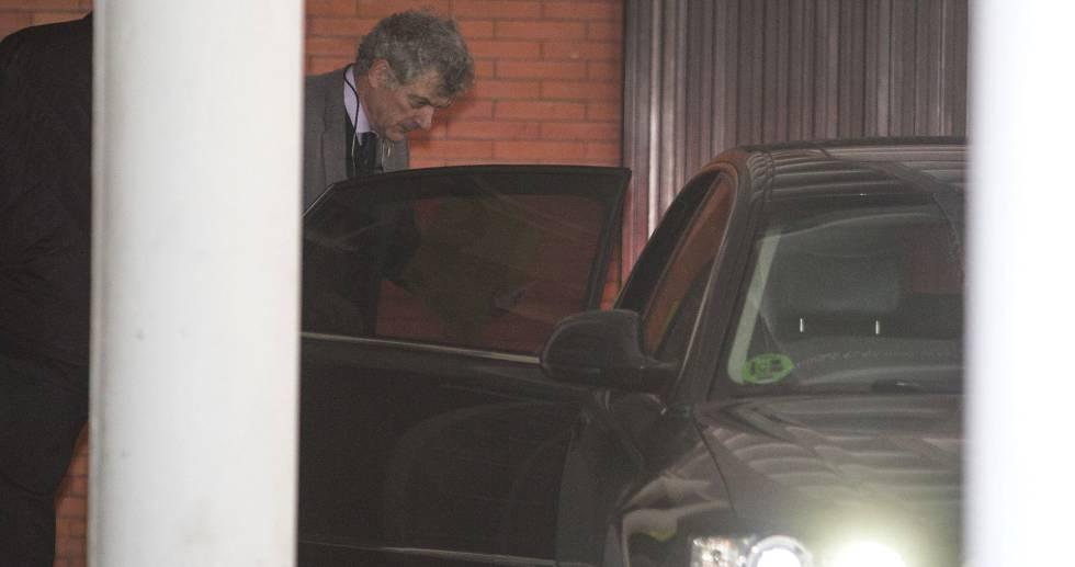 Ángel María Villar, el lunes tras declarar en los juzgados de Majadahonda.