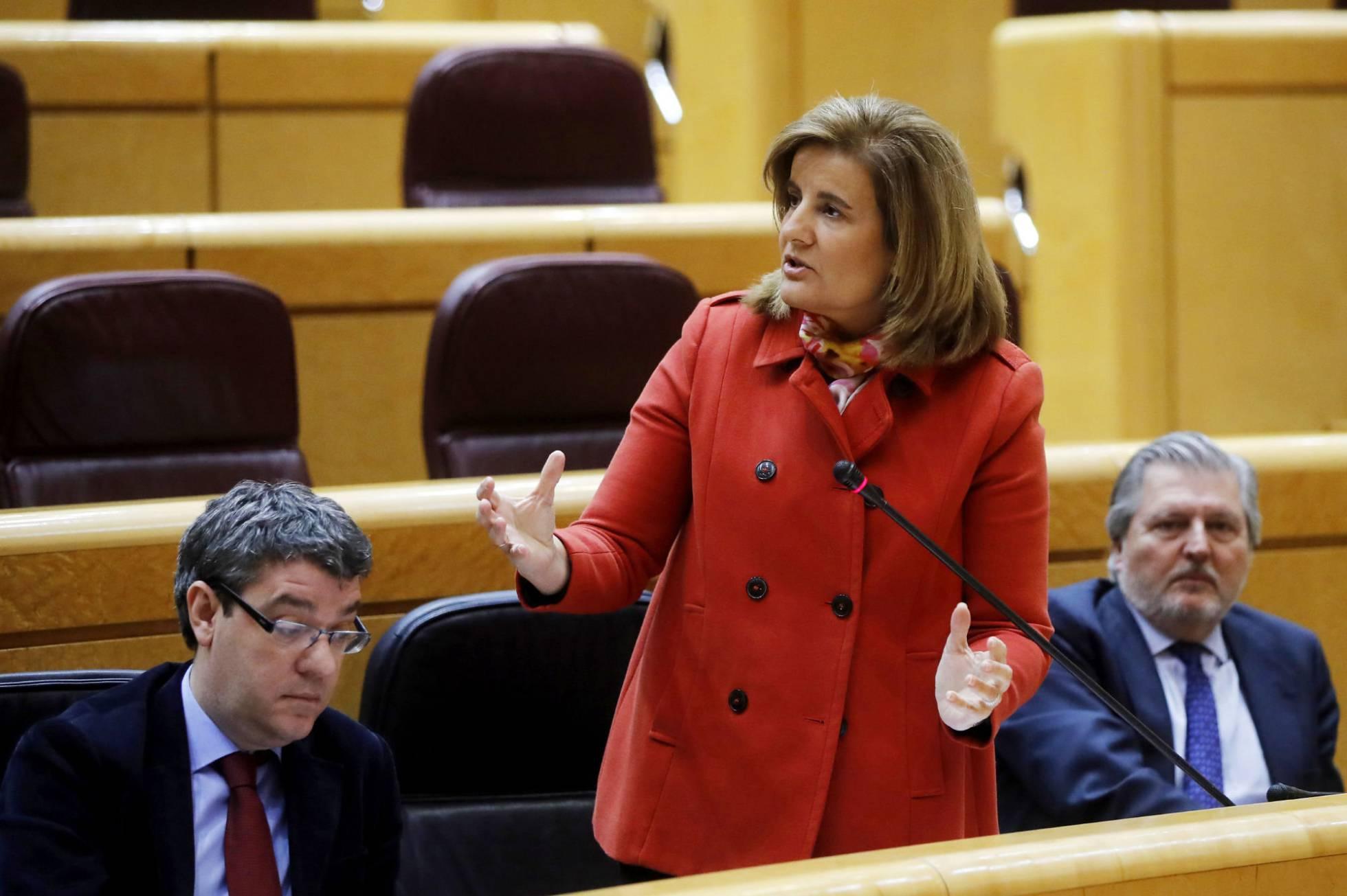 La ministra de Empleo y Seguridad Social, Fátima Báñez JUAN CARLOS HIDALGO EFE