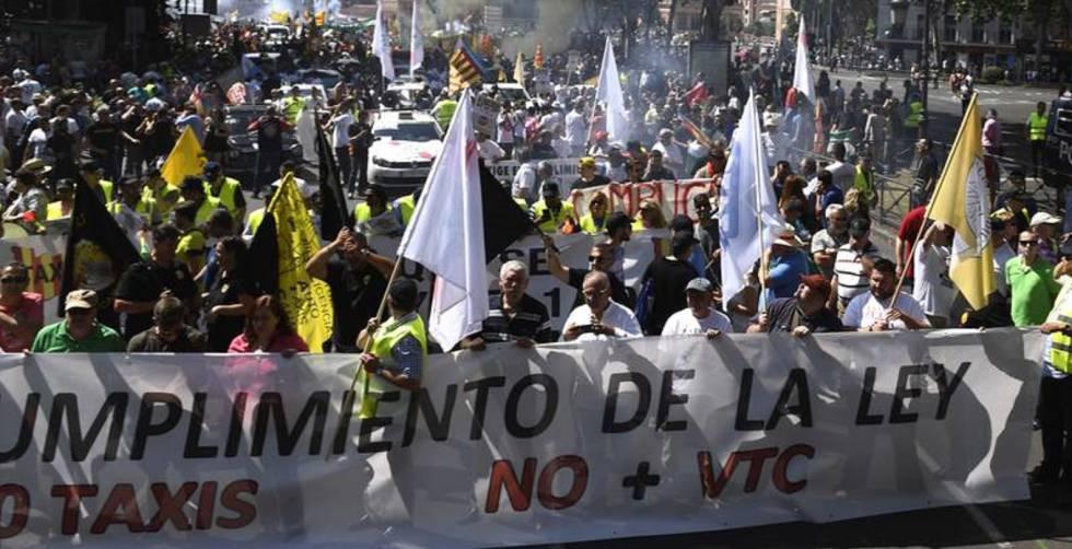 Los taxistas han convocado una manifestación el próximo día 29 de noviembre en Madrid.