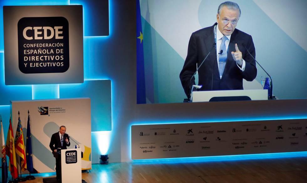 Isidro Fainé, durante su intervención en la clausura del XVI congreso de la CEDE.