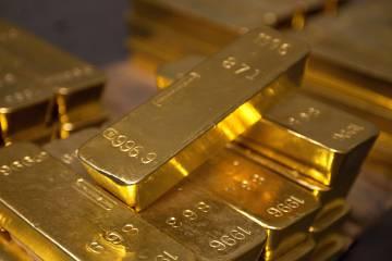 Lingotes de oro en la Reserva Federal de Nueva York