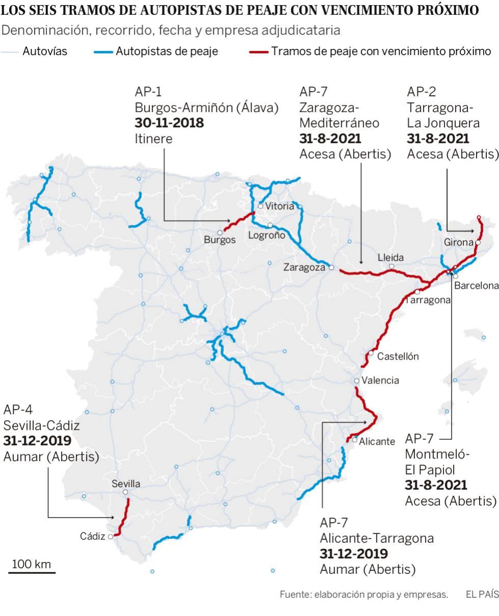 Adiós a los peajes en la autopista AP-1 entre Burgos y Armiñón: esta noche queda liberada del pago