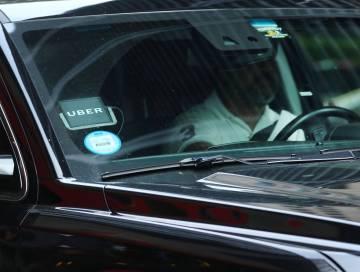 Un conductor de Uber en Nueva York.
