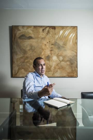 Manuel Mirat, durante la entrevista