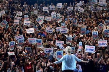Elizabeth Warren, aspirante a la nominación de los demócratas para las presidenciales de 2020, en Los Ángeles.