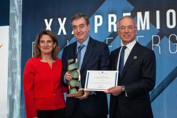 Teresa Ribera, Claudio Aranzadi y Miguel Antoñanzas.