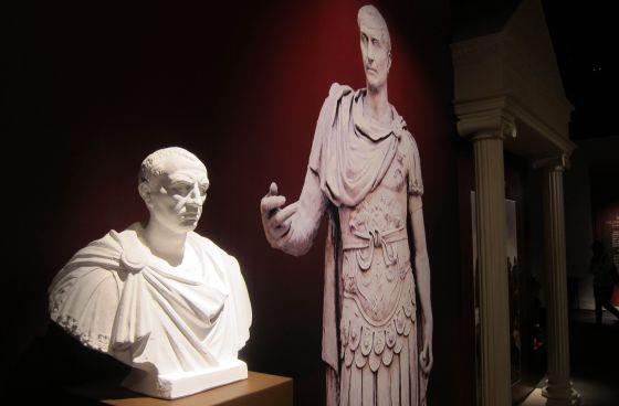 Busto de Julio César durante una exhibición en el Museo de Ciencia de Hong Kong, en 2013.