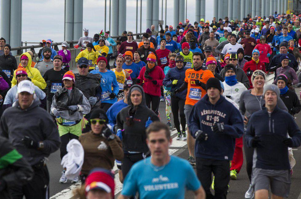 Corredores durante el Maratón de Nueva York de 2014.