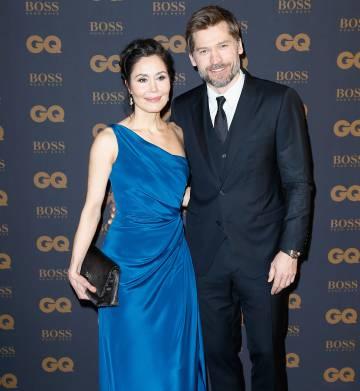 Nikolaj Coster-Waldau (Jaime Lannister) com sua mulher, a cantora Nukâka, da Groelândia, com quem está casado há 17 anos.