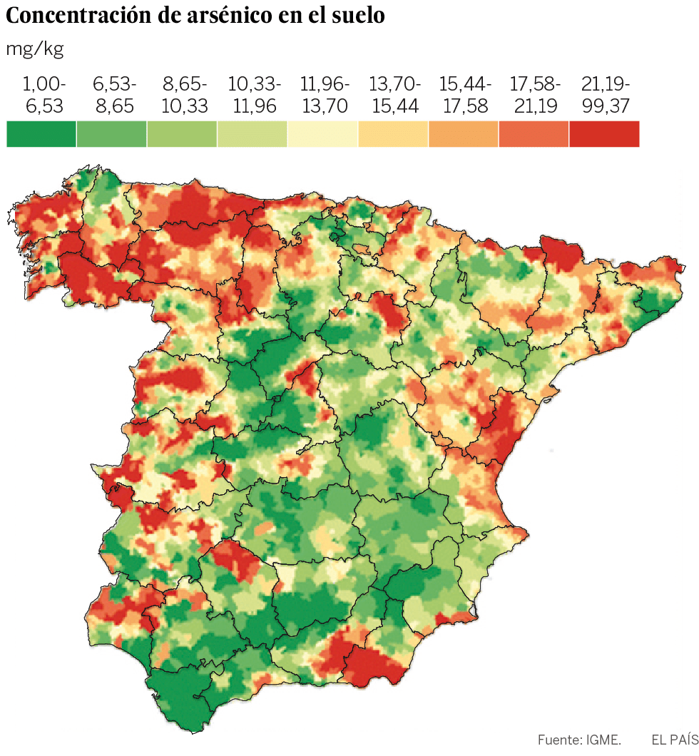 Arsénico en España
