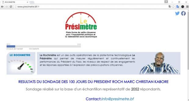 Page web de Le Présimètre du Burkina Faso