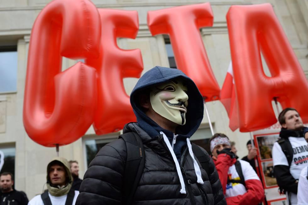 Protesta en Polonia contra el CETA.
