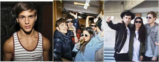 A la izquierda, Sergio Carvajal (630k en Instagram), en 2010. El pasado enero desfiló para Dolce & Gabbana. En el centro, los blogueros Pelayo Díaz, Gala González y Makaroff, con Íñigo Gutiérrez y Carlos Doblas, en 2007. A la derecha, Álex Domènech (255K), Alba Paul (526k) y el propio Estadella, integrantes de la llamada #dulcesquad.