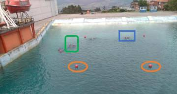 En piscinas de Salvamento Marítimo ya se ha probado el algoritmo asociado al sensor que es capaz de distinguir las cabezas humanas del resto de elementos que pueda encontrarse en el mar.