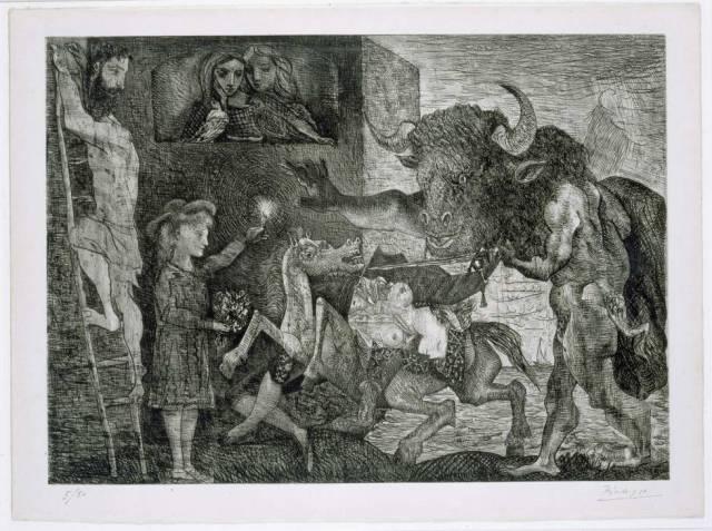 Pablo Picasso. Minotauromaquia, 1935. Arte Gráfico. Colección Museo Nacional Centro de Arte Reina Sofía, Madrid.
