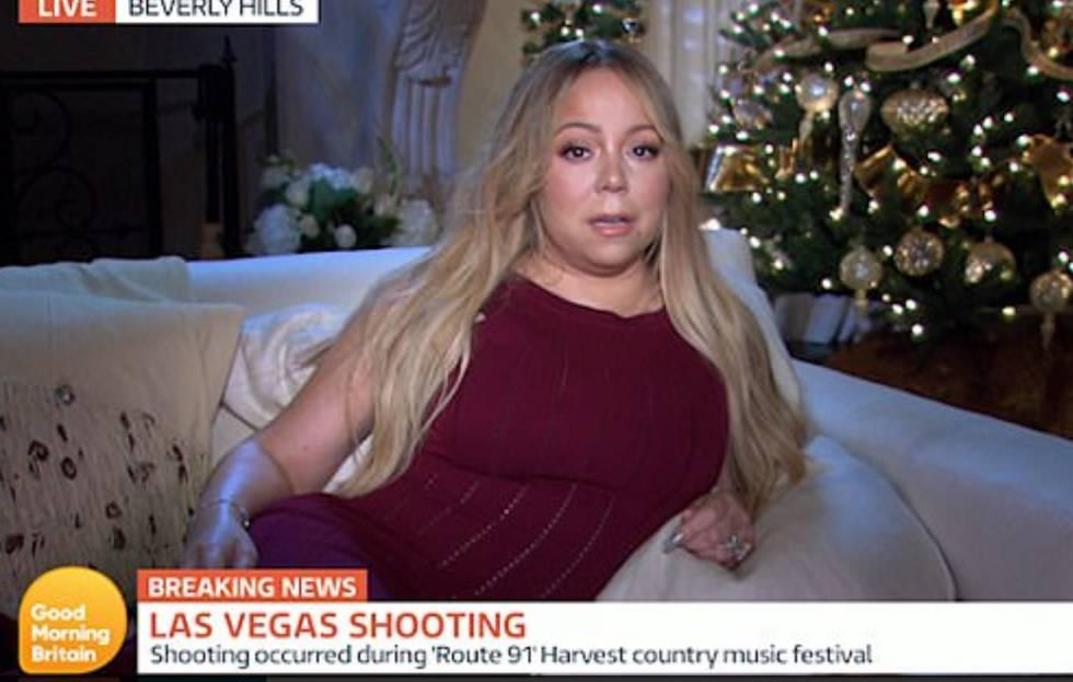 La imagen de Mariah Carey en el momento de la entrevista con el programa de televisión 'Good Morning Britain'.