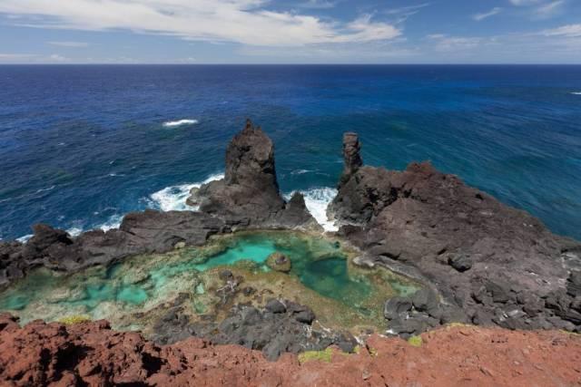 Piscina natural en el archipiélago de Pitcairn.