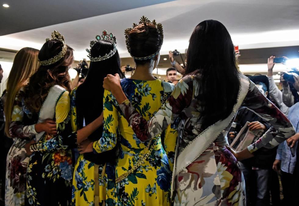 Un grupo de aspirantes a Miss Venezuela.