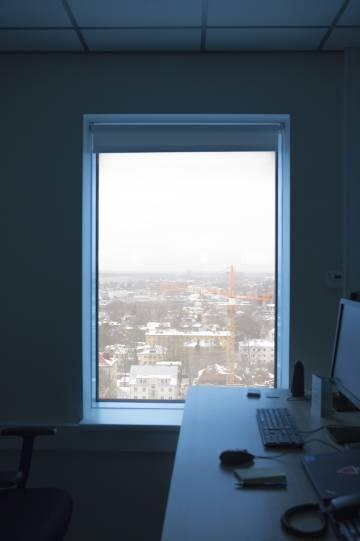 Vistas de Tallin, capital estonia, desde las dependencias del Ministerio de Economía y Comunicaciones.