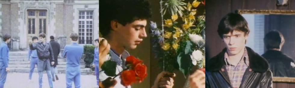 Em 'Les Minets Sauvages' (1984) os atores jogam com enfeites florais em um reformatório gótico francês.