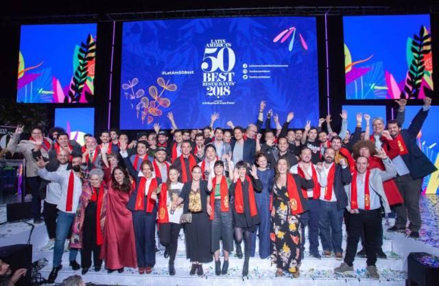 Los ganadores de los #Latam50Best celebran sus galardones, la noche del 30 de octubre en Bogotá.
