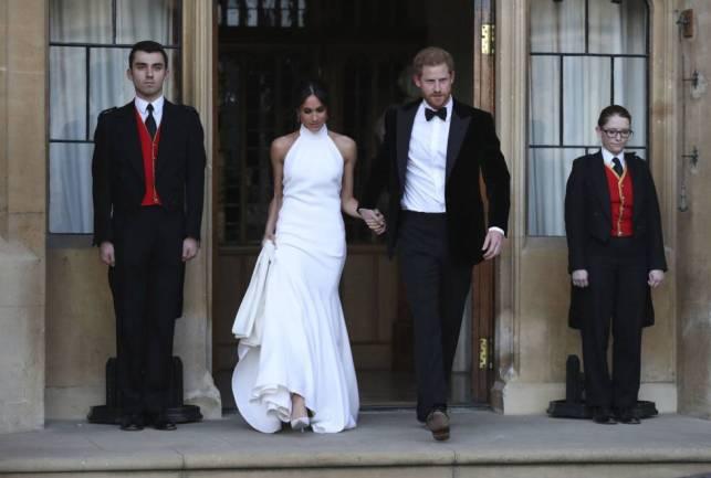 Los duques de Sussex, en una fiesta posterior a su boda.