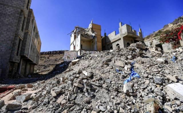 Ruinas de un edificio Saná (Yemen).