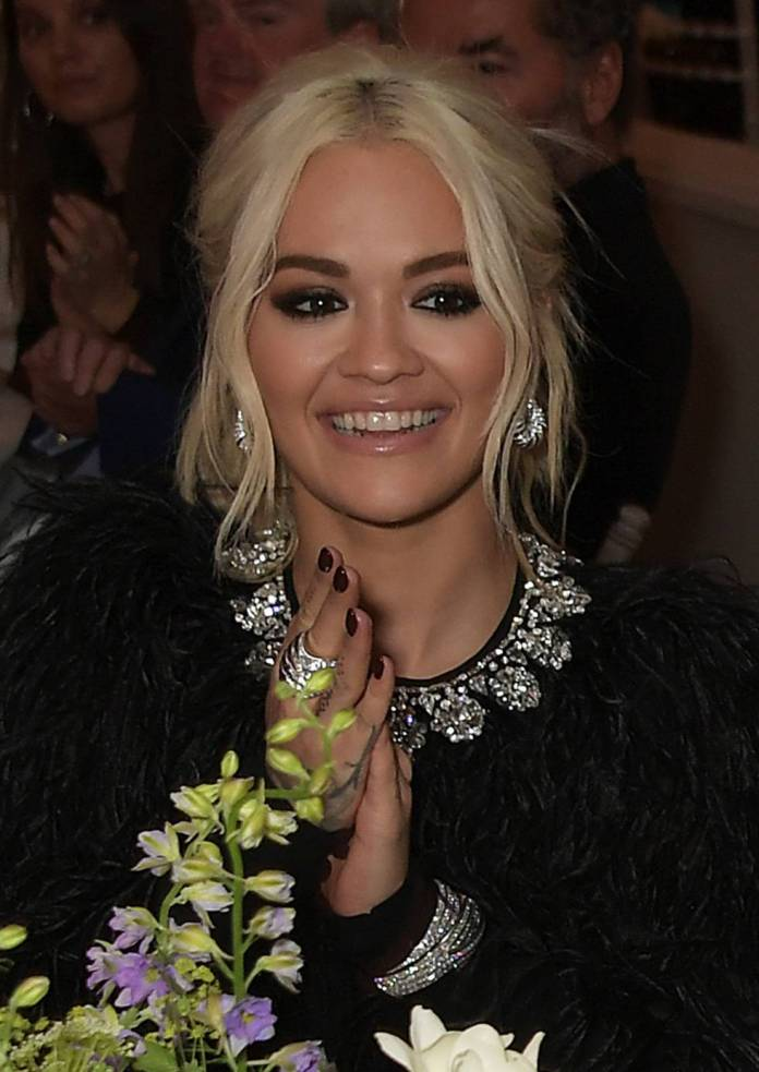 Rita Ora in the dinner hosted by Charles Finch, Edward Enninful and Michael Kors at the Hotel du Cap-Eden-Roc in Antibes, on the 17th of may.