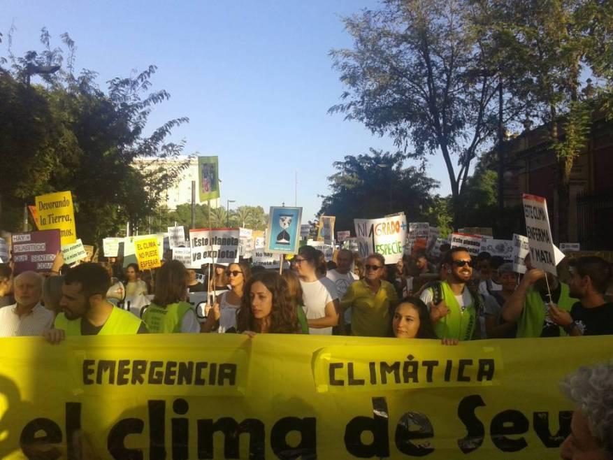 Una marcha reciente contra el cambio climático en Sevilla.