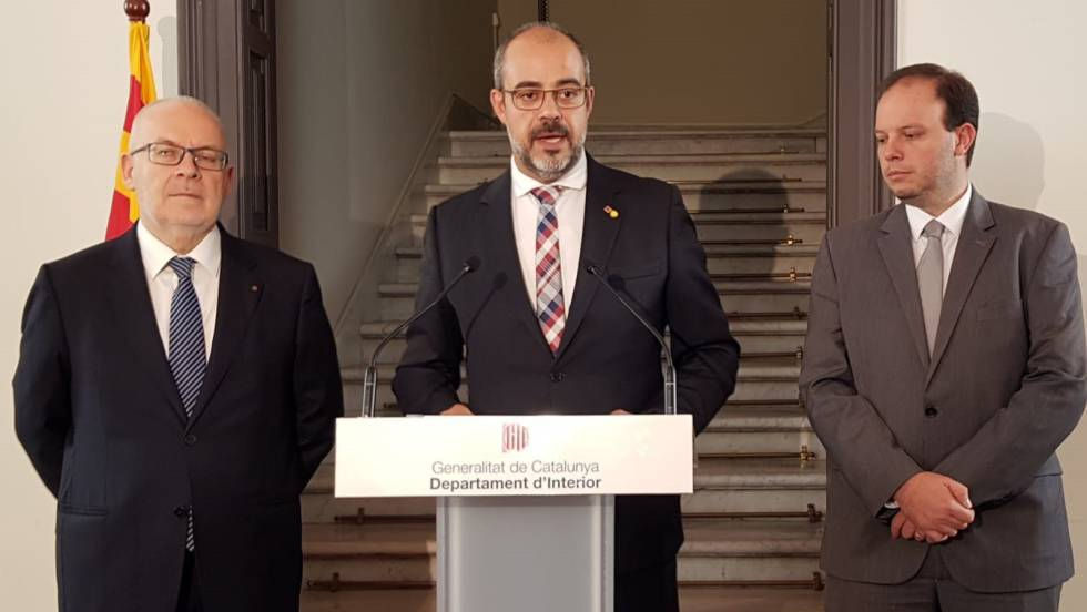 Miquel Buch, the head of the Catalan interior department.