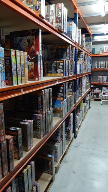 On the shelves of the Casa del Puzzle warehouse in Seville, there have never been so many holes.