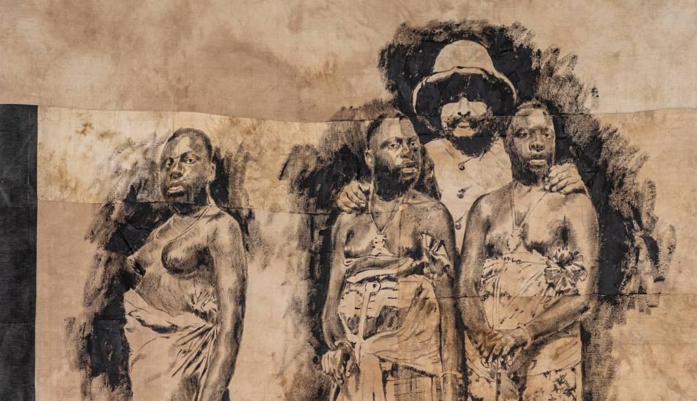 Serie de 'Las almas del pueblo negro' del artista marfileño Roméo Mivekannin.