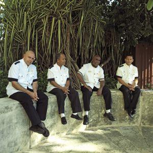 Trabajadores del hotel La Nacional, en La Habana.