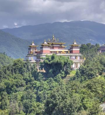 Vista del monasterio de Kopan, cerca de Katmandú, en Nepal.